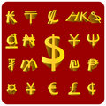 Vector Currency symbol Stock Photo