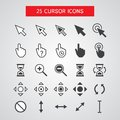 Vector cursor icons set on white background Stock Image
