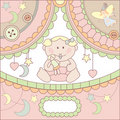 Vector cute baby card Stock Photography