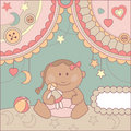 Vector cute baby card Stock Image