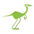 A vector cute cartoon green dinosaur isolated Royalty Free Stock Photos