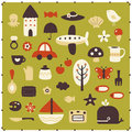 Vector cute elements Stock Photos