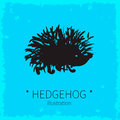 Vector cute hedgehog illustration. Royalty Free Stock Photo