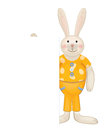 Vector of cute rabbit hiding by blank background is my creative handdrawing and you can use it for animals kids easter design and Stock Photo