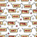 Vector cute rock and roll abstract background.