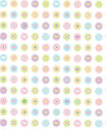 Vector cute seamless pattern blurred soft effect background is my creative handdrawing and you can use it for vintage baby Royalty Free Stock Photography