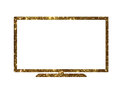 Vector cutout golden glitter of isolated OLED black flat smart w
