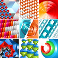 Vector d background abstract design set illustration of for poster cover layout or decoration Stock Photos