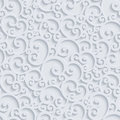 Vector 3d Floral Damask Seamless Pattern Royalty Free Stock Photo