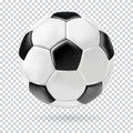 Vector 3d football ball on transparent background.