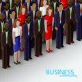 Vector 3d isometric illustration of business or politics community.