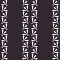 Vector Daisies on Dark seamless pattern background.