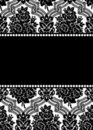 Vector damask frame Stock Photo