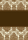 Vector damask frame Royalty Free Stock Image