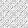 Vector damask seamless 3D paper art pattern background 041 Square Cross Check