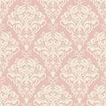 Vector damask seamless pattern background.