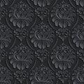 Vector damask seamless pattern background. Elegant