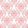 Vector damask seamless pattern background. Exquisite floral baroque template. Royalty Free Stock Photo