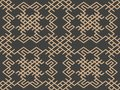 Vector damask seamless retro pattern background oriental geometry check spiral cross frame chian crest. Elegant luxury brown tone Royalty Free Stock Photo