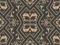 Vector damask seamless retro pattern background polygon geometry curve cross frame chain vine leaf flower. Elegant luxury brown
