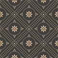 Vector damask seamless retro pattern background round geometry check cross frame dot line flower. Elegant luxury brown tone design