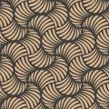 Vector damask seamless retro pattern background wave spiral curve cross vortex. Elegant luxury brown tone design for wallpapers,