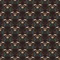 Vector damask vintage seamless pattern background.