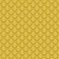 Vector damask vintage seamless pattern background.