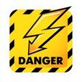 Vector danger button Royalty Free Stock Photo