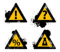 Vector danger sign Royalty Free Stock Image