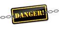 Vector danger warning sign Royalty Free Stock Photo