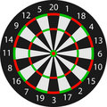 Vector dartboard Royalty Free Stock Image