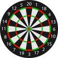 Vector dartboard Royalty Free Stock Image