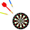 Vector dartboard with dart Royalty Free Stock Photography