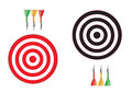 Vector dartboards isolated on white background with meshes eps Stock Photo