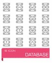 Vector Database icon set Royalty Free Stock Photo
