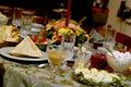 Vector de la comida del día de fiesta Imagen de archivo