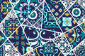 Vector decorative background. Mosaic patchwork pattern for design and fashion Royalty Free Stock Photo