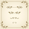 Vector decorative elements set of for design Royalty Free Stock Photography