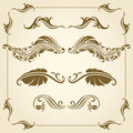 Vector decorative elements set of for design Stock Images