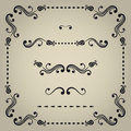 Vector decorative elements set of for design Stock Photography