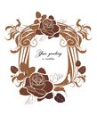 Vector decorative frame holiday with rose ready to place your text Royalty Free Stock Photography