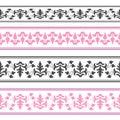 Vector decorative ribbon seamless strip stock photo Royalty Free Stock Photography