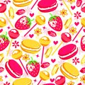 Vector delicious background in style pop art. Royalty Free Stock Photo
