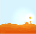 Vector desert illustration nights Stock Images