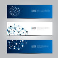 Vector design Banner network technology medical background. Royalty Free Stock Photo