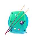 Vector Design Billiards, pool and snooker sport icon. Poolroom emblems design with balls, logo. Vector Illustration