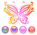 Vector design of butterfly Stock Image