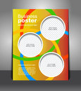Vector design color flyer magazine cover poster template Stock Photo