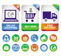 Vector design elements for internet shopping Royalty Free Stock Photo